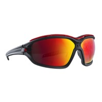 Adidas Evil Eye Evo Pro Sunglasses - Matte Black/Black / Red Mirror Lens
