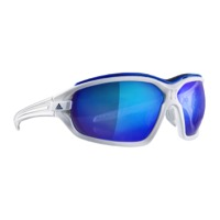 Adidas Evil Eye Evo Pro Sunglasses - White/Shiny White / Blue Mirror Lens