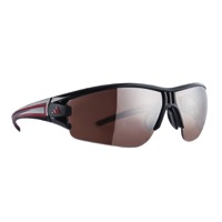 Adidas Evil Eye Halfrim Sunglasses - Shiny Black/Red / LST Active Silver Lens