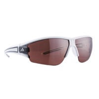 Adidas Evil Eye Halfrim Sunglasses - Shiny White/Anthracite / LST Active Silver Lens