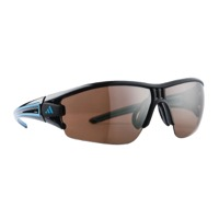 Adidas Evil Eye Halfrim Sunglasses - Shiny Black/Blue / LST Active Silver Lens