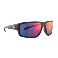 Adidas Kumacross 2.0 Sunglasses - Matte Umber Transparent / Red Mirror Lens