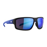 Adidas Kumacross 2.0 Sunglasses - Matte Black/Blue / Blue Mirror Lens