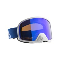 Adidas Backland Dirt Goggles - Shiny White/Blue / Blue Mirror Lens