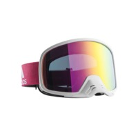 Adidas Backland Dirt Goggles - Shiny White / Purple Mirror Lens