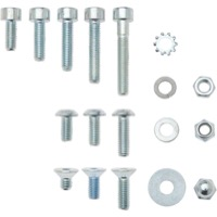 Wheels Zinc Plated Steel 5mm Fastener Kit