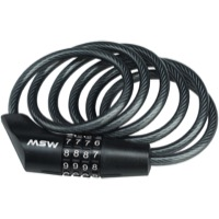 MSW CLK-108 Combination Cable Lock - 5' x 8mm