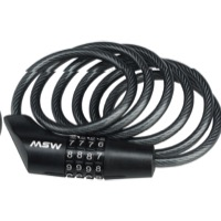 MSW CLK-110 Combination Cable Lock - 6' x 10mm