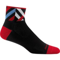 Darn Tough 1/4 Ultra-Light Socks - Graphic Black