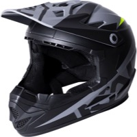 Kali Protectives Zoka Youth Helmet - Dual Solid Matte Black/Lime