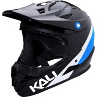 Kali Protectives Zoka Youth Helmet - Pinner Gloss Black/Blue/White