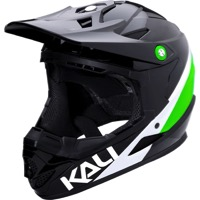 Kali Protectives Zoka Youth Helmet - Pinner Gloss Black/Lime/White