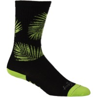 "All-City Key West Carl 8"" Tall Socks - Black/Yellow"