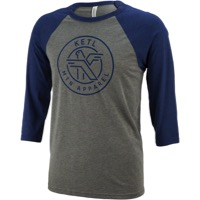 Ketl Logo 3/4 Sleeve Baseball T-Shirt - Blue/Gray