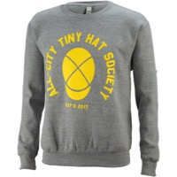 All-City Tiny Hat Crewneck Sweatshirt - Gray/Yellow