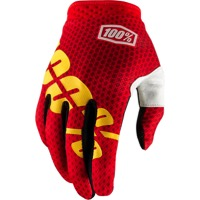 100% iTrack Gloves 2018 - Fire Red