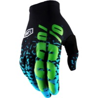 100% Celium 2 Gloves 2018 - Flash Black/Cyan