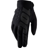 100% Brisker Youth Gloves - Black