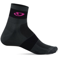 Giro Comp Racer Socks 2020 - Charcoal/Bright Pink