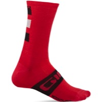 Giro Merino Seasonal Socks 2020 - Dark Red/Black/Grey