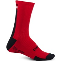 Giro HRc+ Merino Wool Socks 2020 - Dark Red/Black/Grey