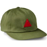 Giro Leather Strap Cap - Olive/Red Pyramid