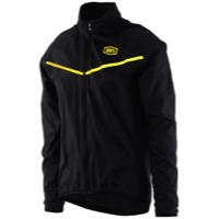 100% Corridor Stretch Windbreaker - Black/Yellow