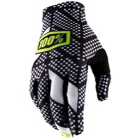 100% Celium 2 Gloves 2018 - Code Black/White
