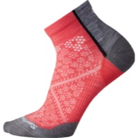 Smartwool PhD Cycle Ultra Light Women's Crew Socks - Bright Coral