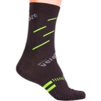 VeloToze Active Compression Wool Socks - Black/Yellow