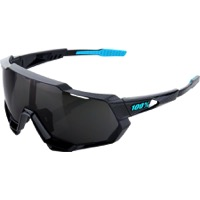 100% Speedtrap Sunglasses - Polished Black Graphic/Black Mirror Lens
