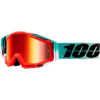 100% RaceCraft Goggles - Cubica/Mirror Red Lens