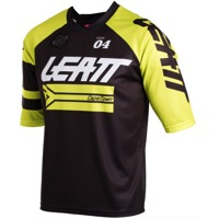 Leatt DBX 3.0 Short Sleeve Jersey - Black/Lime