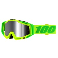 100% RaceCraft PLUS Goggles - Sour Soul/Silver Mirror Lens