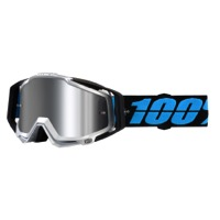 100% RaceCraft PLUS Goggles - Daffed/Silver Mirror Lens