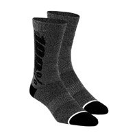 100% Rythym Merino Wool Socks - Charcoal Heather