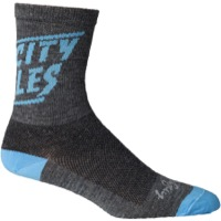 All-City Tiny Cali Wool Socks - Gray/Blue