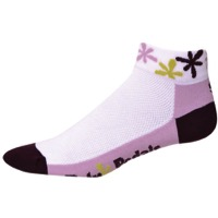 "Save Our Soles 1.25"" Retro Pedals Women's Socks - White"