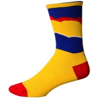 "Save Our Soles 5"" Colorado Torn Peaks Socks - Yellow"