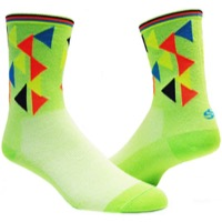 "Save Our Soles 5"" Geo Socks - Green"