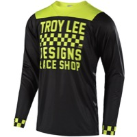 Troy Lee Designs Skyline Long Sleeve Jersey - Checker Black/Lime