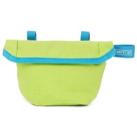Brompton Saddle Pouch - Lime Green/Lagoon Blue Trim