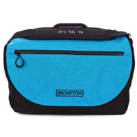 Brompton S Bag - Black/Lagoon Blue Flap