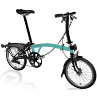 Brompton S6R Black Edition Complete Bike - Turkish Green