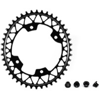AbsoluteBlack Gravel Asym Oval Chainring - 4 x 110mm Asym BCD