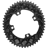 AbsoluteBlack FSA ABS Asym 2x Oval Chainring - 4/5 x 110mm Asym BCD