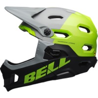 Bell Super DH MIPS Helmet 2019 - Matte/Gloss Gray/Green/Black