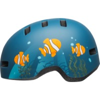 Bell Lil Ripper Child Helmet 2020 - Clown Fish Matte Gray/Blue