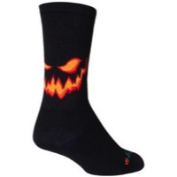 SockGuy Jack Crew Socks - Black/Orange
