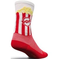 SockGuy Popcorn Crew Socks - White/Red/Yellow